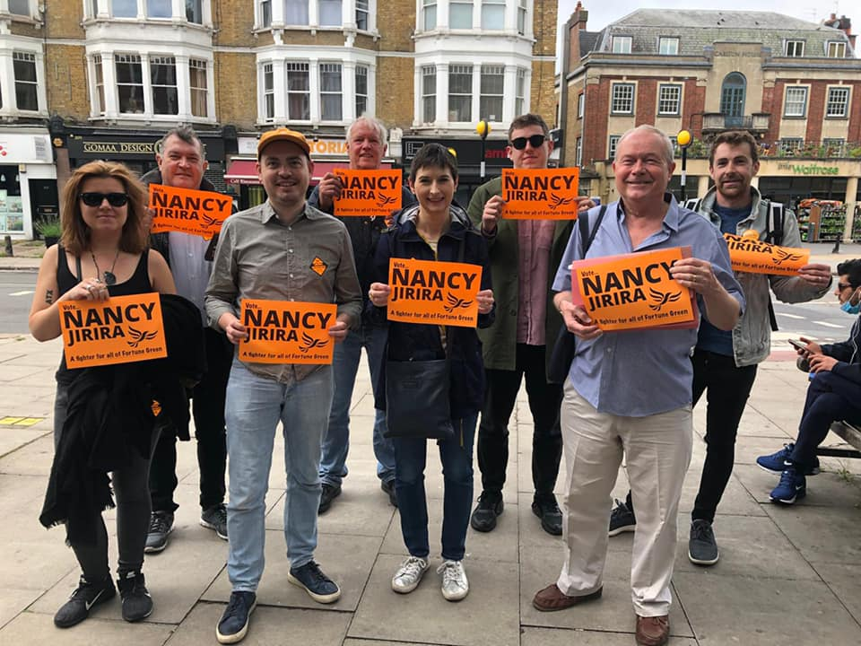 Campaigning in West Hampstead