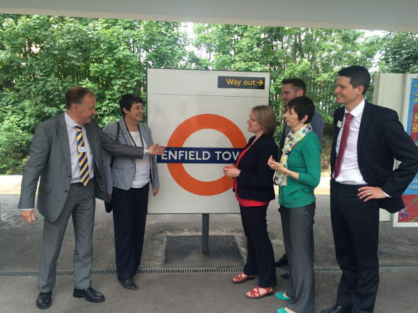 Enfield Town Overground Street up to Enfield Town